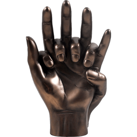 Hands Entwined Cold Cast Bronze Sculpture